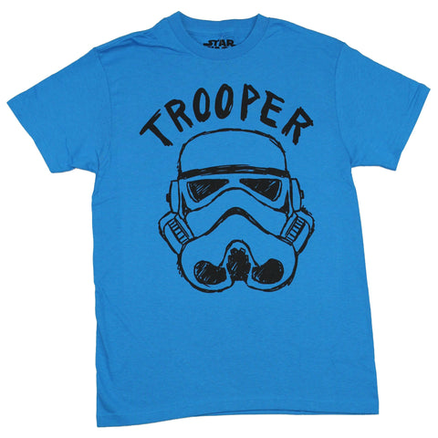 Star Wars Mens T-Shirt - Trooper Face Simple Drawing