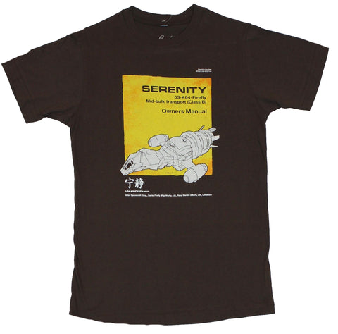 Firefly Serenity T-Shirt - Mid-Bulk Transport Serenity Owners Manual Image