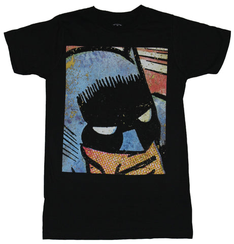 Batman (DC Comics) Mens T-Shirt - Giant Comic Strip Face Image