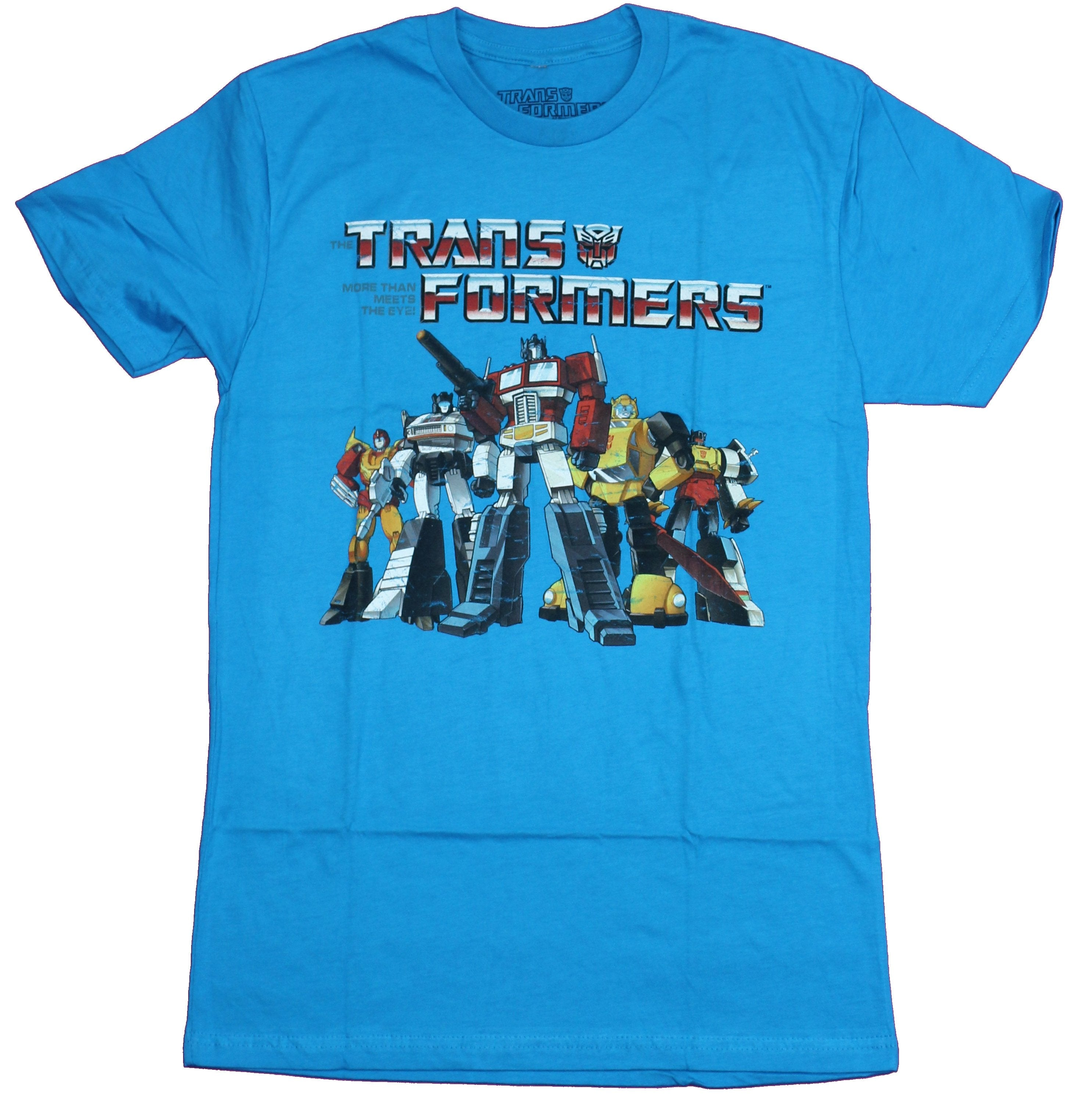 Transformers Mens  T-Shirt - Autobot Classic Group Under Logo Image