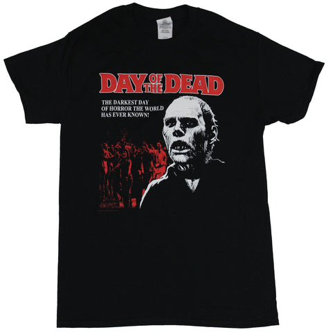 Day of the Dead Mens T-Shirt - the Darkest Day of Horror Image