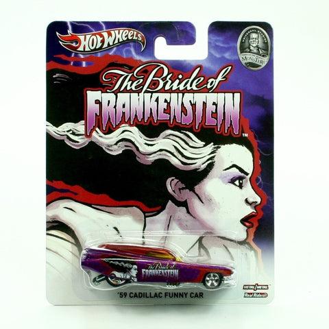 59 CADILLAC FUNNY CAR * BRIDE OF FRANKENSTEIN / UNIVERSAL STUDIOS MONSTERS * Hot Wheels 2013 Pop Culture Series 1:64 Scale Die-Cast Vehicle