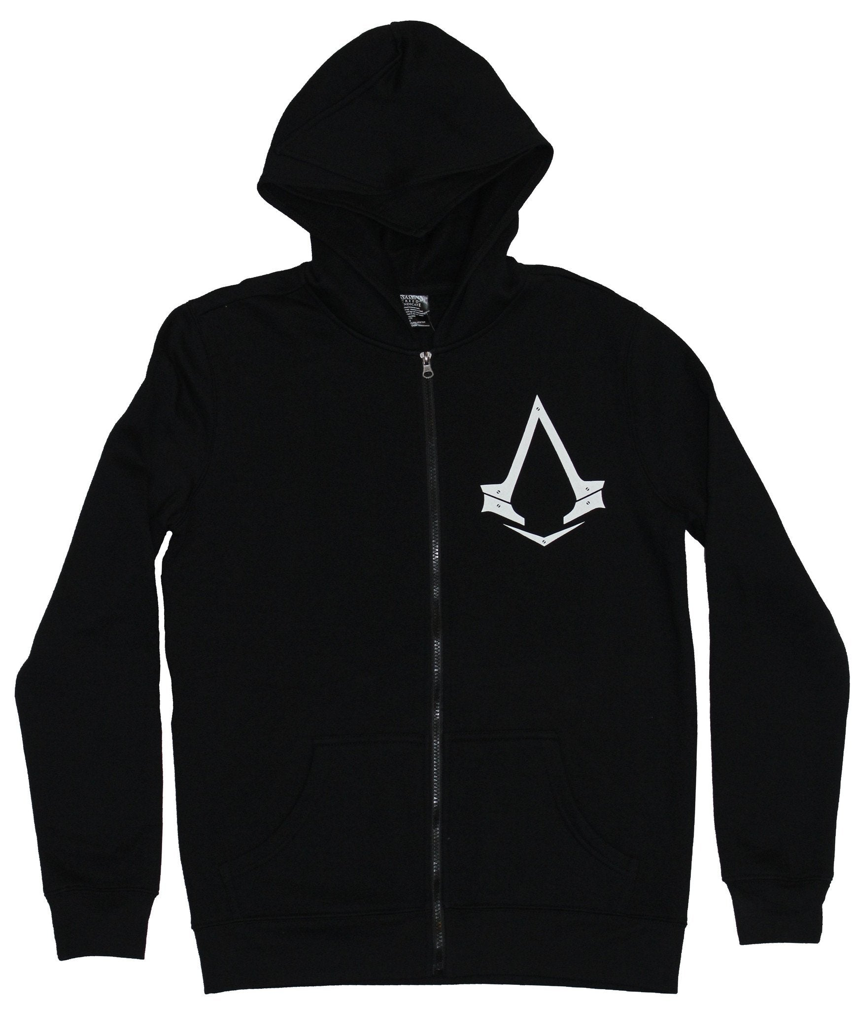 Assassin's Creed Mens Hoodie - Logo Front Back Trident With Big Hood