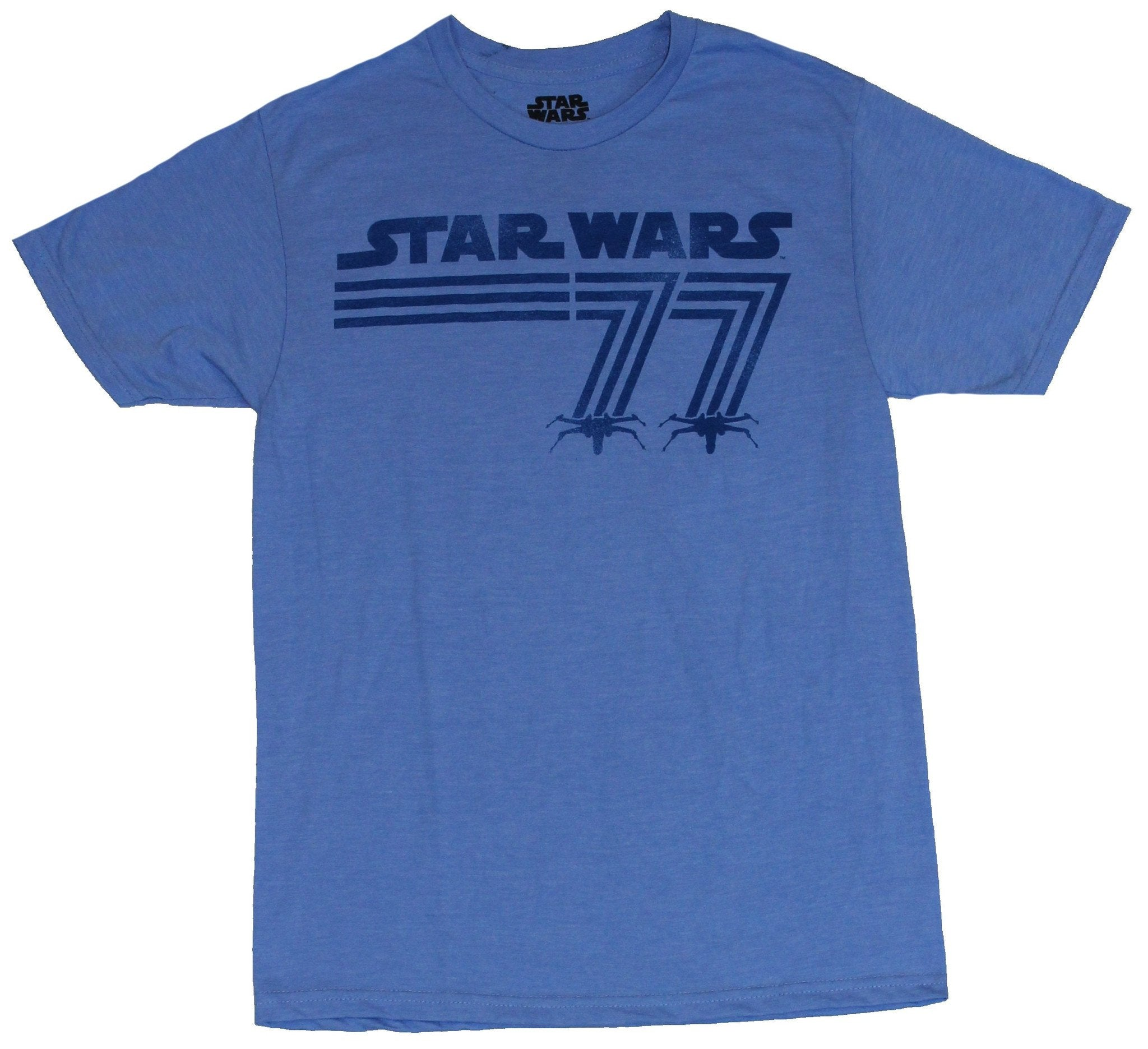 Star Wars Mens T-Shirt - Lined Star Wars 77 X-Wing Attack