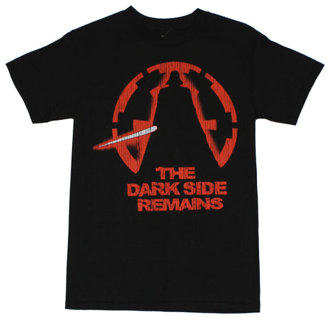 "Star Wars Mens T-Shirt - ""The Dark Side Remains"" Cracked Vader Logo"