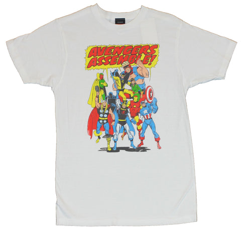 The Avengers (Hulk, Captain Amercia, Thor, Iron Man by Marvel Comics) Mens T