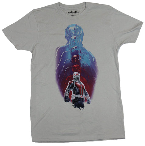 Ant-Man (Marvel Comics) Mens T-Shirt - Shrinking Down Full Color Image