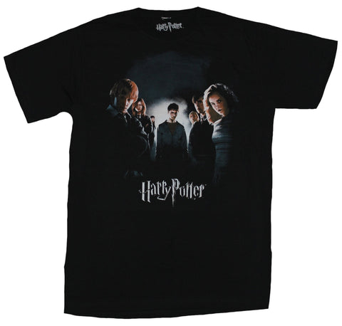 Harry Potter Mens T-Shirt - Harry Potter & Crew Enveloped in Shadow Image