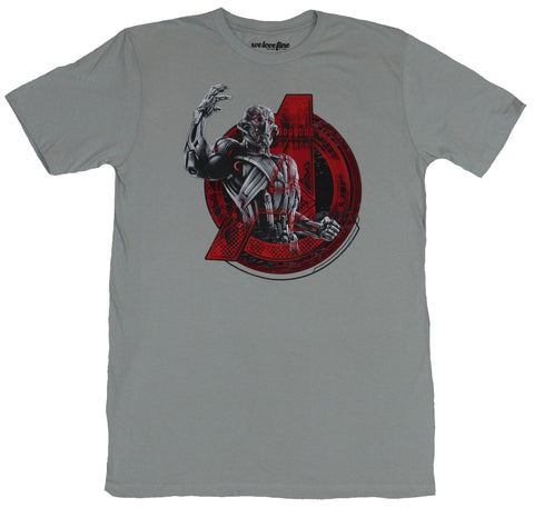The Avengers (Marvel Comics) Mens T-Shirt - Ultron Arm Up in A Logo Image
