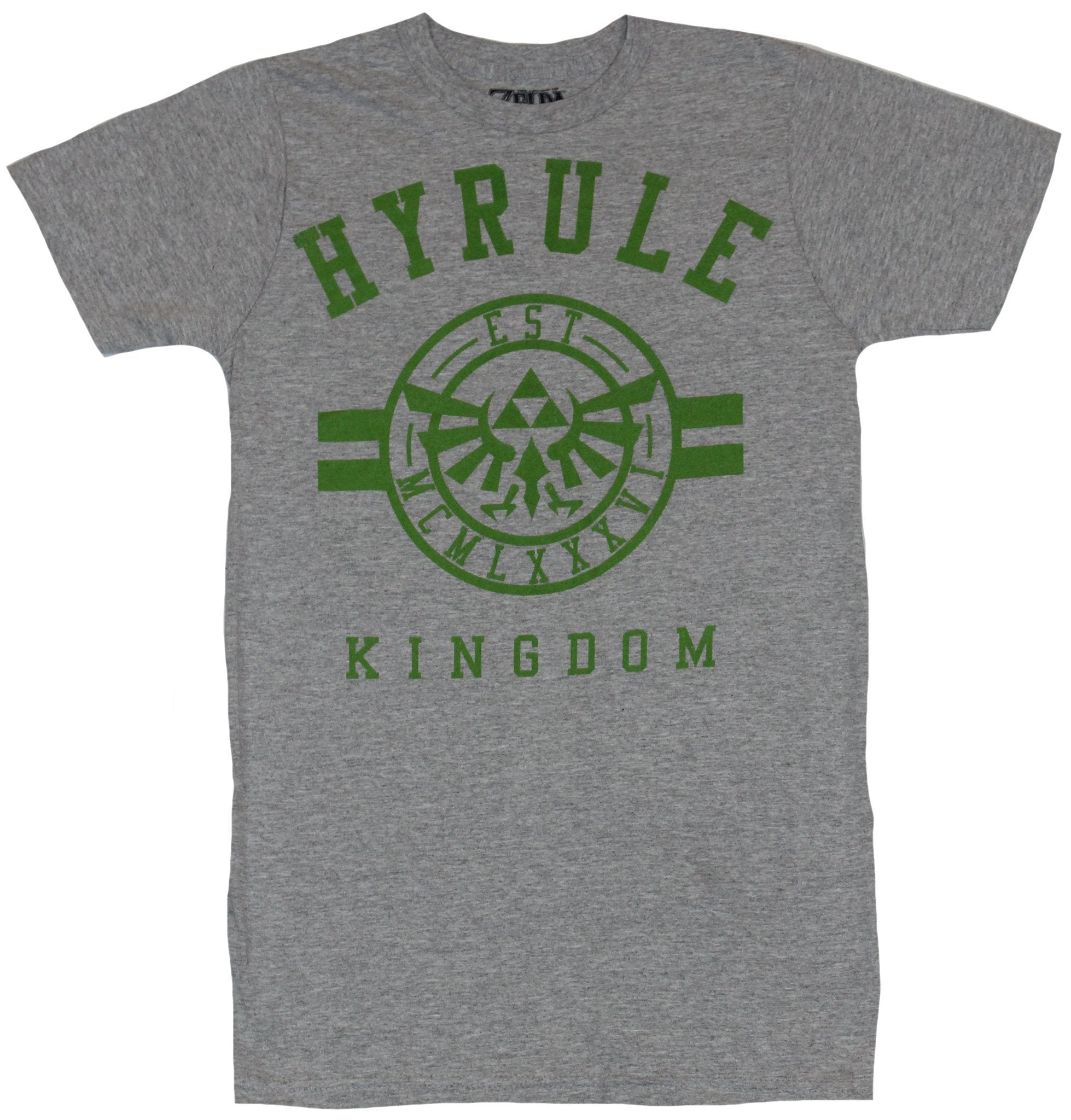 Legend of Zelda Mens T-Shirt - Hyrule Kingdom University Style Logo Image