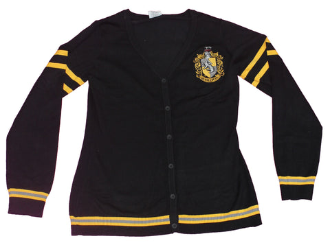 Harry Potter Girls Plus Size Cardigan - Hufflepuff House Crest