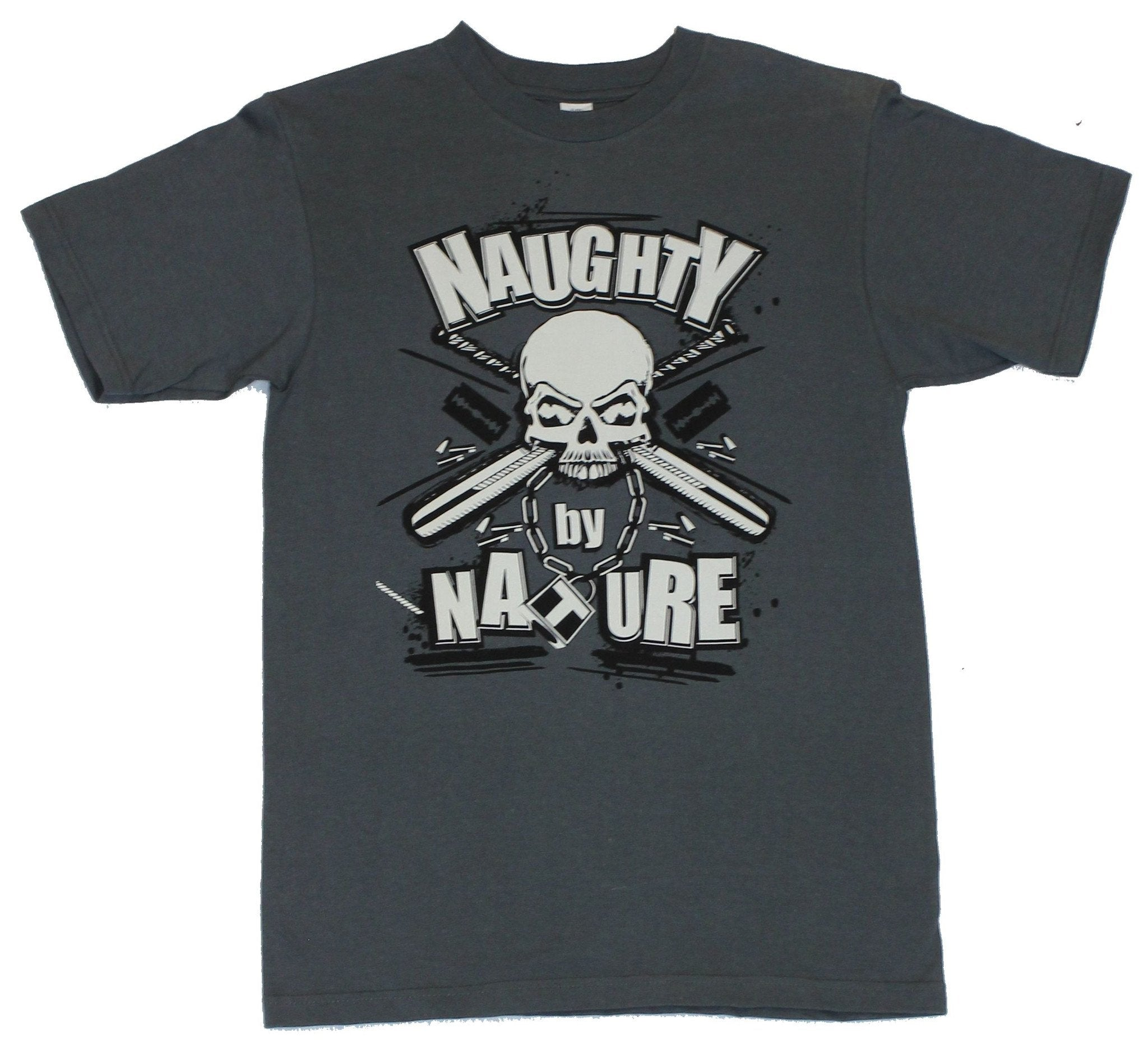 Naughty by Nature Mens T Shirt  - Baseball Bat And Skull Logo [Apparel]