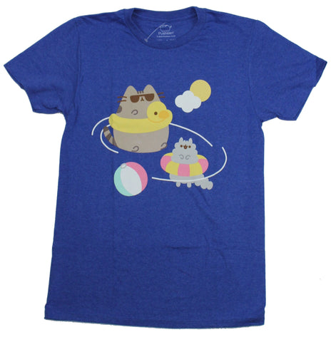 Pusheen Mens  T-Shirt -  Swimwear Floating Wearing Beach Ball Playing Image