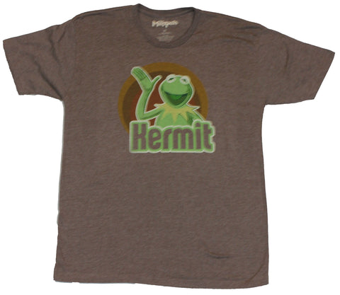 The Muppets Mens T-Shirt  - Kermit Waving Circle Logo