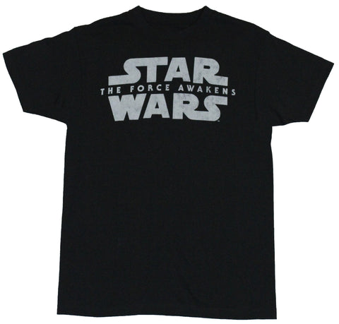 Star Wars the Force Awakens  Mens T-Shirt - Classic Word Crawl Logo