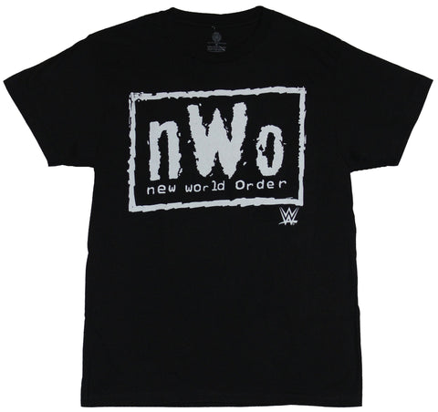 WWE NWO Mens T-Shirt - Classic N.W.O. New World Order White Box Logo Image