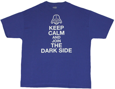 Star Wars Mens T-Shirt - Keep Calm and Join the Darkside Simple Word Image