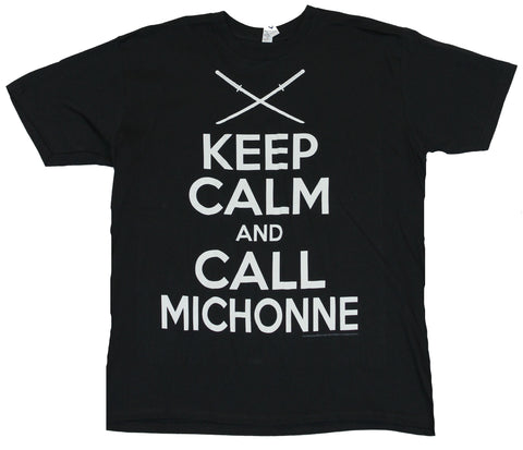 The Walking Dead Mens T-Shirt  - Keep Calm And Call Michonne