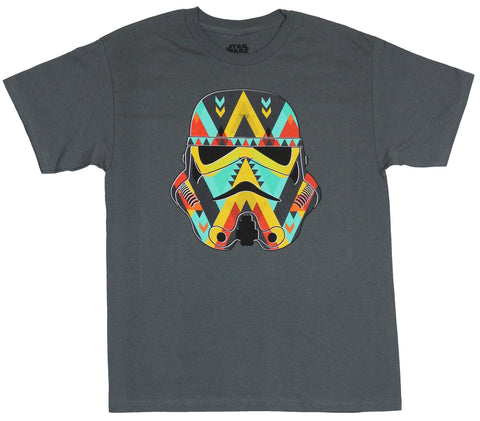 Star Wars Mens T-Shirt - Stormtrooper Colorful Stormtrooper Helmet Image
