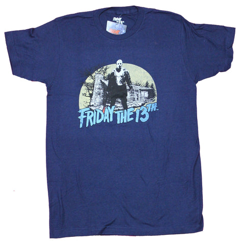 Friday the 13th Mens T-Shirt - Jason Standing In Front Of Cabin Image
