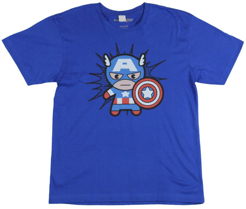 Captain America Mens T-Shirt - Kawaii Cap in shirt Enter Image