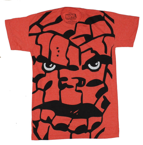 Thing (Marvel Comics) Mens T-Shirt - Giant Ben Grimm Rock Face Image