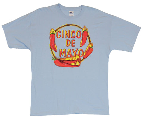 Cinco De Mayo  Mens T-Shirt -  Firery Pepper Wreath Design