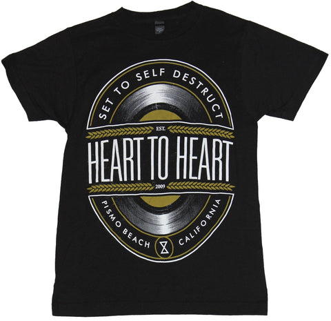 Heart to Heart  Mens T-Shirt - Set to Self Destruct Circle Logo