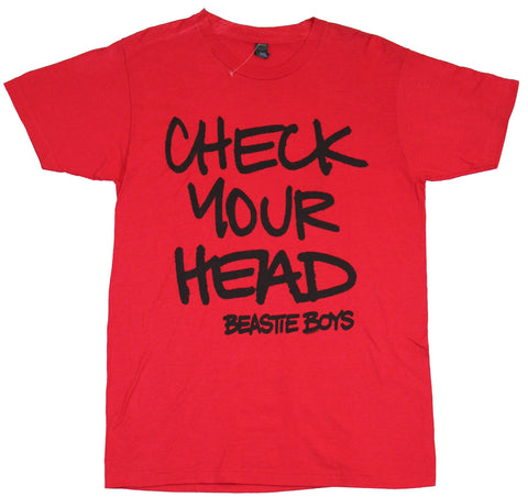 Beastie Boys Mens T-Shirt - Check your Head Sprayed Word Logo Image