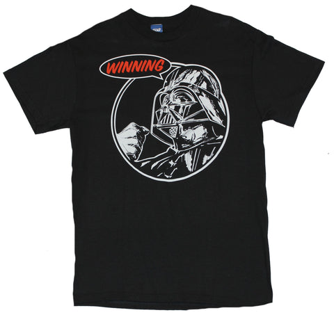 "Star Wars Mens T-Shirt - ""Winning!"" Fist Clinch Darth Vader Image"