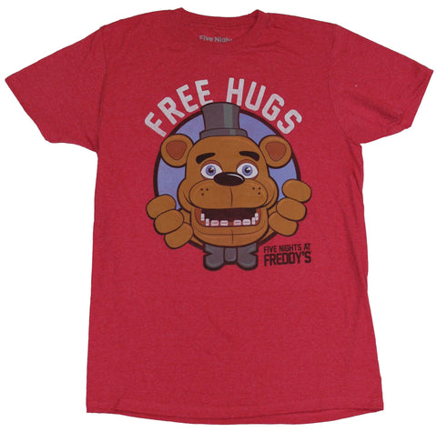 Five Nights At Freddy's Mens T-Shirt - Free Hugs Freddy Logo Image