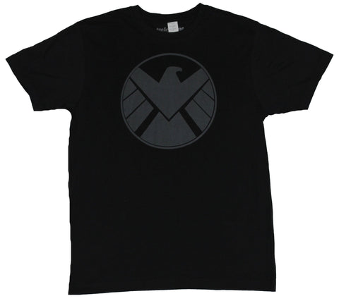 S.H.I.E.L.D. (Marvel Comics)  Mens T-Shirt - Sharp Gray Circle Shield Logo Image