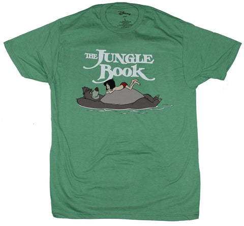 The Jungle Book Mens T-Shirt - Mogwli Riding Balloon With Smiling Gaze