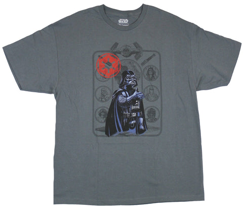 Star Wars Mens T-Shirt - Darth Vader Over Empire Image Drawings