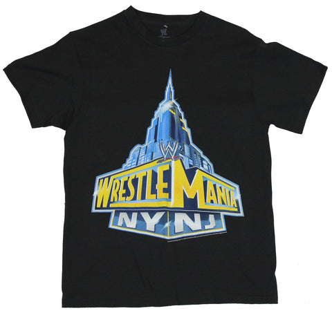 WWE Wrestlemania Mens T-Shirt -  NY NJ Empire Sates Building Logo Image