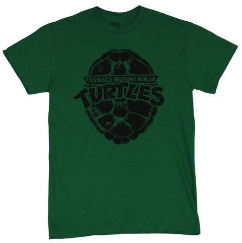 Teenage Mutant Ninja Turtles Mens T-Shirt - Black Stamped Shell Logo Image