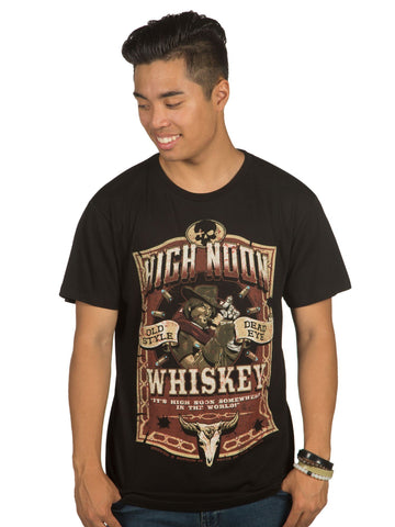 Overwatch Mens T-Shirt - High Noon Whisky Mcree Label Image