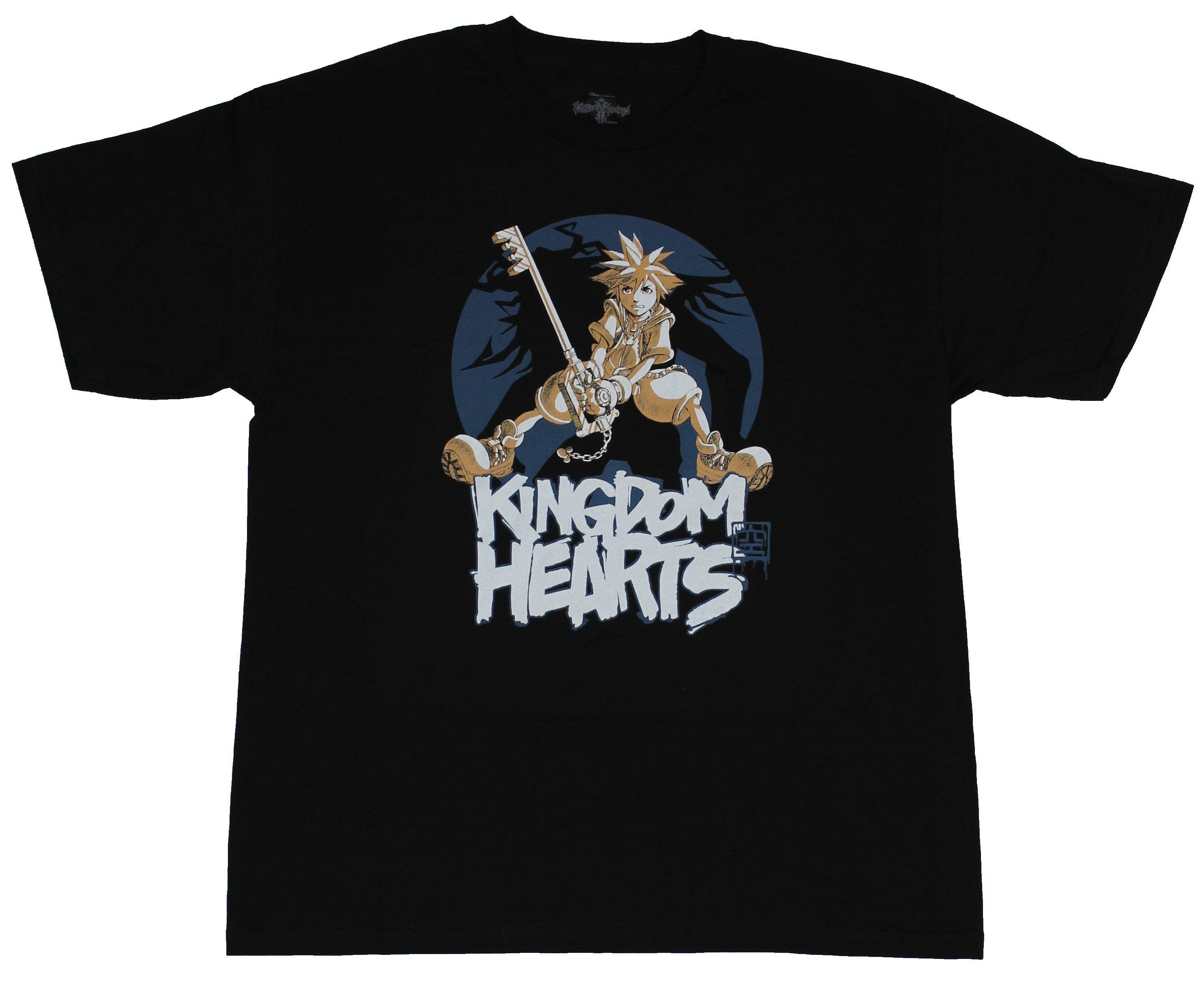 Kingdom Hearts  Mens T-Shirt - Sora & Keysword n Top Of Name
