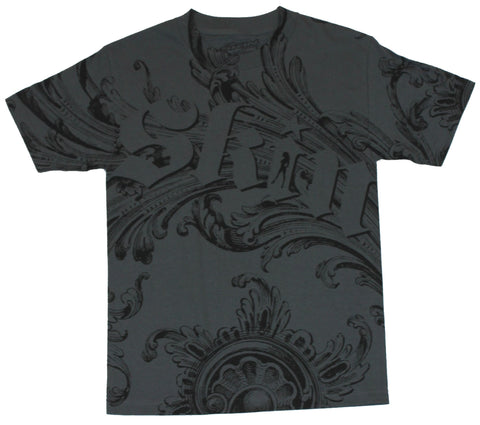 Skin Industries Mens T-Shirt -  Sweeping Paisley Girl Silhouette in I  Design