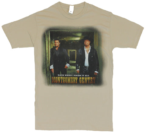 Montgomery Gentry Mens T-Shirt  - Back When I Knew It All [Apparel]