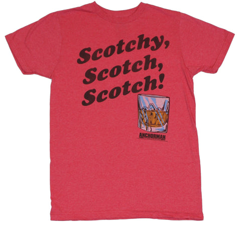 "Anchorman (The Movie)  Mens T-Shirt -  ""Scotchy, Scotch, Scotch"" Glass Image"
