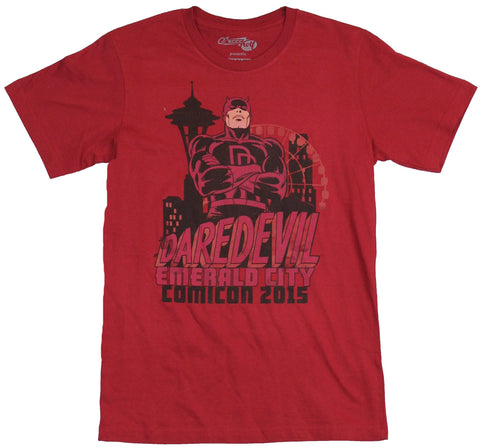 Daredevil (Marvel Comics) Mens T-Shirt - Matt Over Emerald City Comic Con 2015