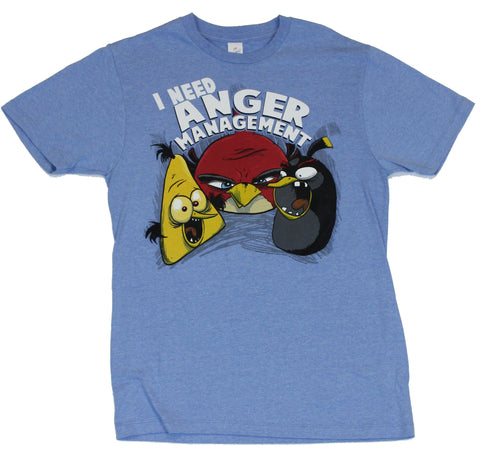 Angry Birds (Hit Mobile App) Mens T-Shirt  - I Need Anger Management Bird Im