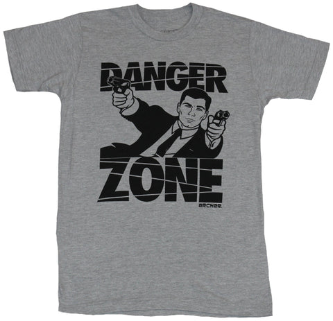 Archer Mens T-Shirt - Danger Zone Diving Archer In Words Image