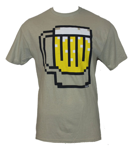 Beer Mens T-Shirt -  Pixelated  8 Bit Beer Design