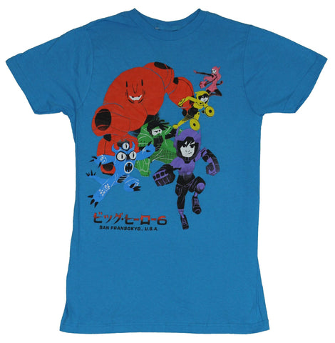 Big Hero Six Mens T-Shirt-  Simplified Primary Colors Team Image