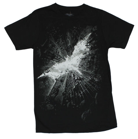 Batman  Mens T-Shirt - Dark Knight  Rises Logo Made By The Skyscrapers