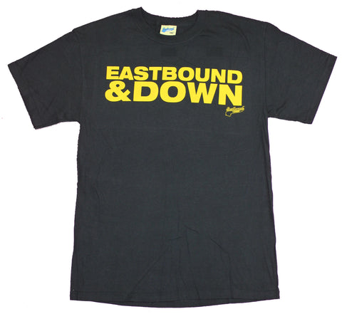 Eastbound & Down Mens T-Shirt  - Block Letter Yellow Word Logo