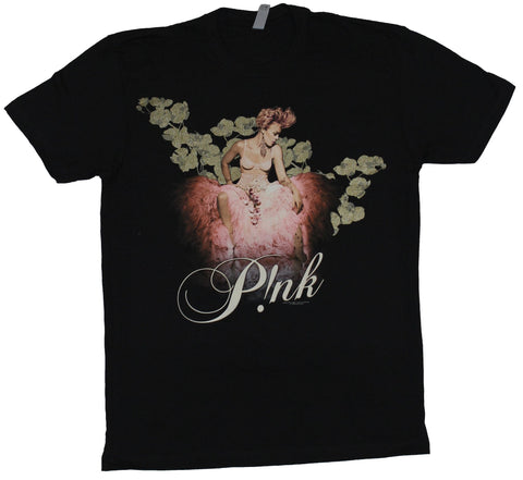 Pink Mens T-Shirt - Truth About Love Tour Pink Dressed Pink Laying In Ivy Image