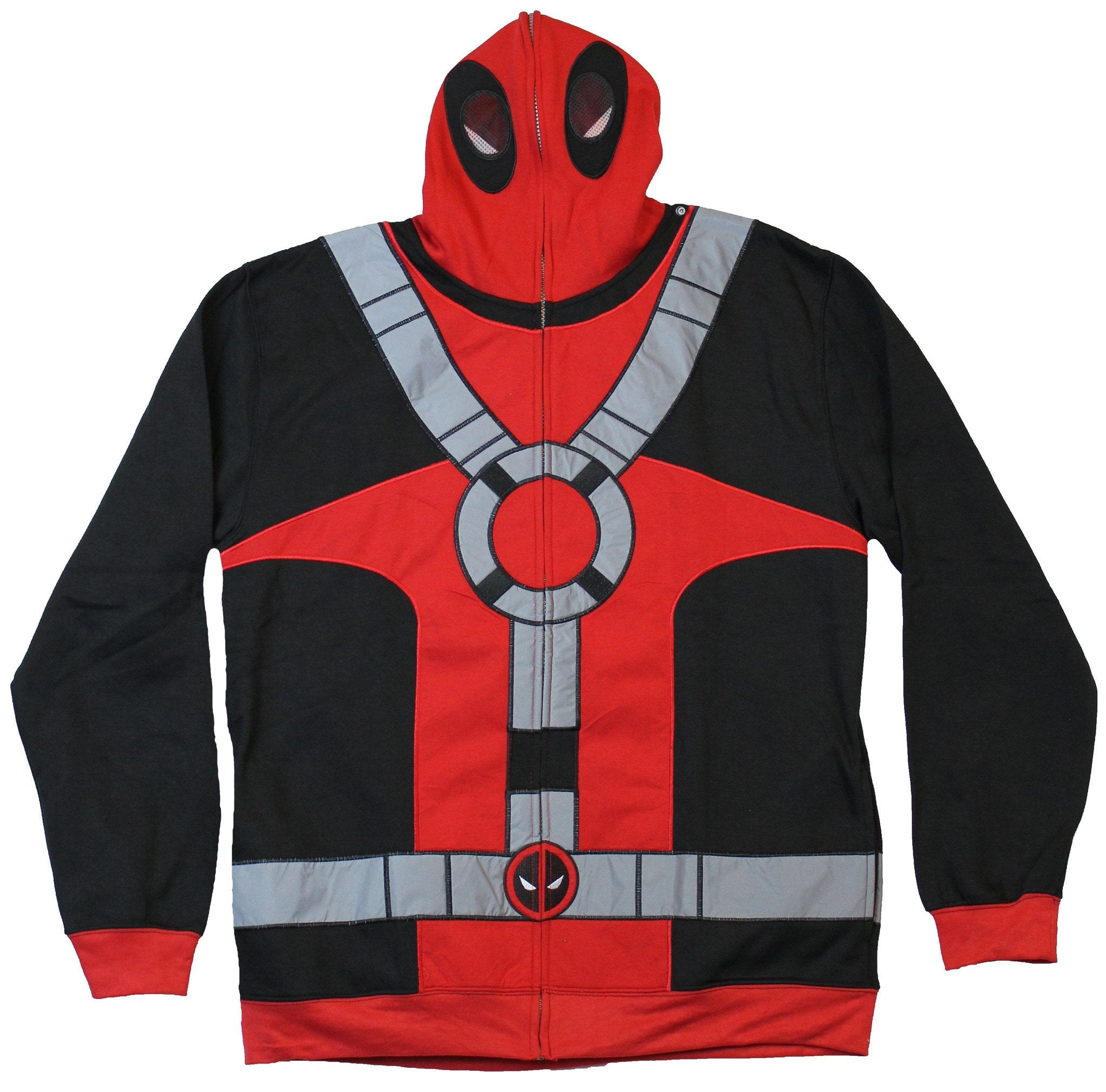 Deadpool (Marvel Comics) Hoodie Sweatshirt - Costume Style Silver Strip Image